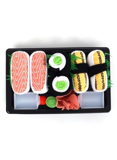Socks+Stuff 3'lü Bento Box Çorap Set 4 Somon